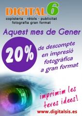 20% descuento en gran formato valido hasta 28-02-2011