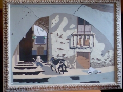 Collage-casco antig�o de el pont de suert