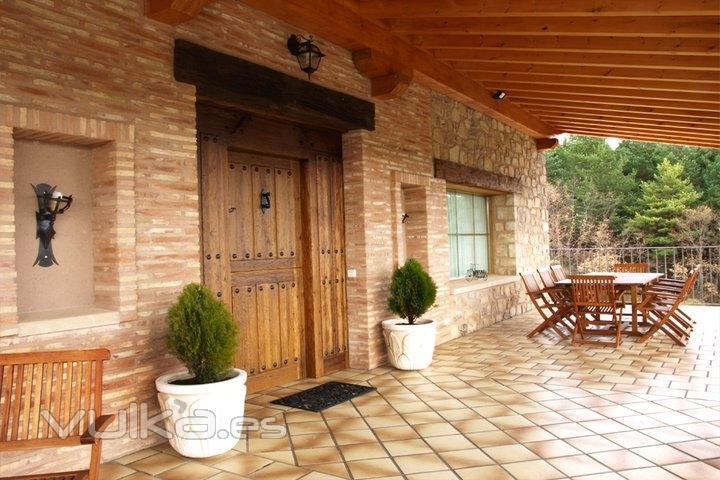 Casa rural entrebosques for Imagenes de porches de casas