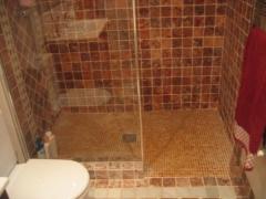 Platospacio ducha marmol rojo