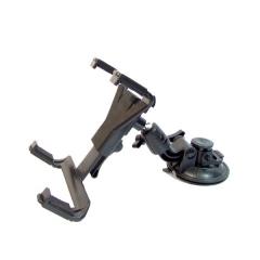 Soporte de tablet pc para coche que dispone de toda movilidad en el cabezal para rotar el tablet...