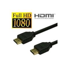 Cable de conexión hdmi estándar con conectores chapados en oro.