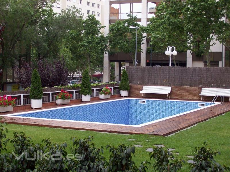 Foto rehabilitaci n de piscina con lainer armado alkorplan for Rehabilitacion en piscina