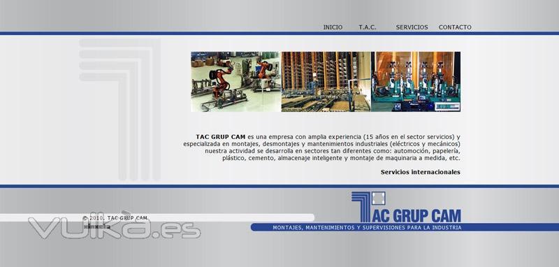 Dise�o Web - TAC GRUP CAM - Empresa especializada en montajes y mantenimientos industriales