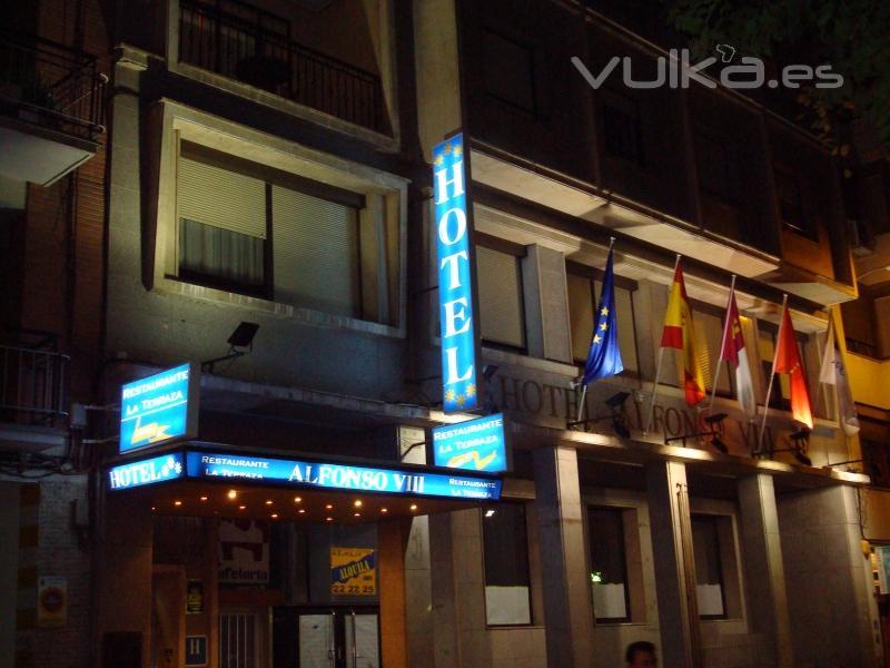 Fachada del Hotel Alfonso VIII de Cuenca