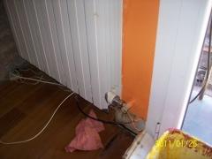 Detentor de radiador nuevo instalado y sin fugas