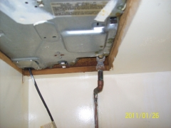 Instalacion de gas individual de cocina antigua