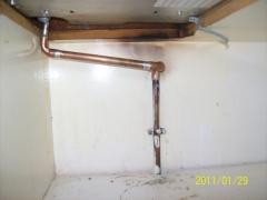 Instalacion de gas individual de cocina nueva