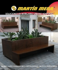 Banco-jardinera .mobiliario urbano multifuncional