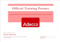 Reconocimiento como partner de adecco