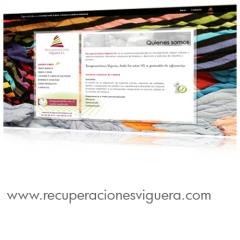 Diseño y desarrollo web para una empresa especializada en reciclaje textil, trapos, cotones y celulo