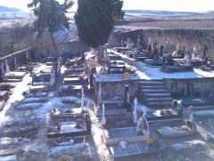 Topografia en un cementerio