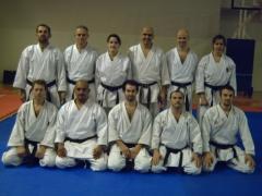 Con los compañeros de karate