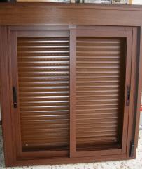 Aluminio lacado madera en corredera rpt