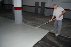 Pintado pavimento