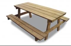 Z-1900 mesa picnic madera autoclave