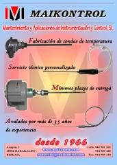 Sondas de temperatura, termopares, pt100, termoresistencias
