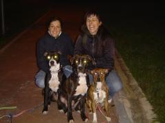 Educaci�n de Olatz y sus 3 perros