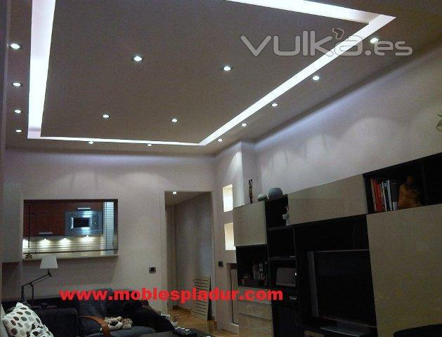 Foto falso techo de pladur con fosa de iluminaci n for Muebles de pladur para salon