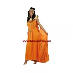 Disfraz de egipcia, color naranja