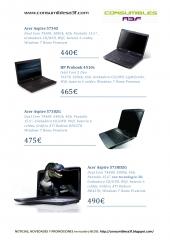 Catálogo ofertas en portátiles y netbooks correspondientes a Enero 2011 de www.consumiblesa3f.com
