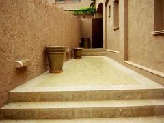 Microcemento en pavimento para accessos y escaleras