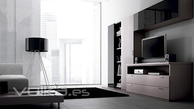 Foto muebles lun de salon comedor moderno - Muebles salon comedor modernos ...