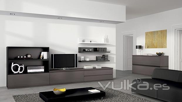 Foto mobiliario minimalista de salon comedor for Mueble comedor minimalista