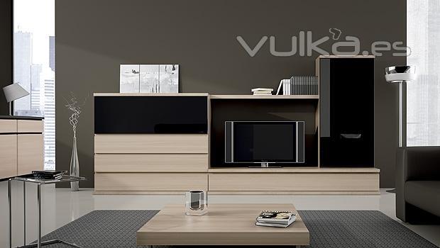 Foto muebles de comedor en color nogal y negro - Muebles color nogal ...