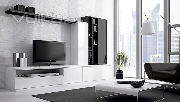 foto muebles minimalistas de salon lun