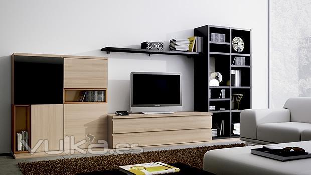Foto mobiliario de salon comedor moderno lun for Mobiliario de salon moderno