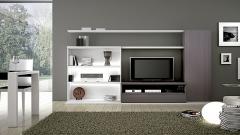 Composicion de muebles apilables del catalogo lun