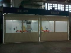 Zona preparacion doble nova verta con cortinas motorizadas en abr sevilla