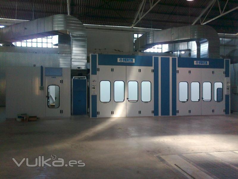 2 cabinas de 8 mts y box de pintura Nova Verta en ABR Sevilla
