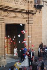 Suelta de globos coraz�n para bodas