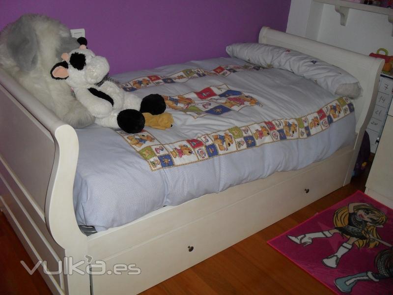 Foto cama nido lacada en blanco - Cama nido lacada ...