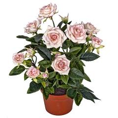 Planta artificial rosal mini rosa  en lallimona.com