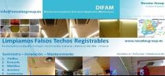 Limpieza integral y tratamientos para restauraci�n de los falsos techos registrables