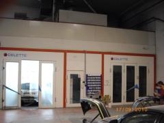Dos cabinas de pintura y horneado  del taller carrocerias la galana en vitoria-gasteiz