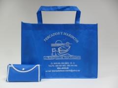 Bolsa tst (tela sin tejer) plegable, ecol�gica, resistente y reutilizable. �desde 150 uds.!