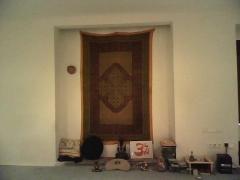 Detalle sala de yoga y meditaci�n