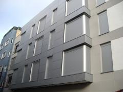 Revestimiento de fachada con panel composite