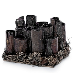 Estructura vegetal troncos madera oscura en lallimona.com
