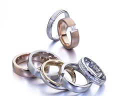 Alianzas de oro y plata para bodas