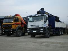 Cabezas tractoras con gr�a y camiones con caja
