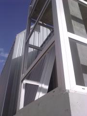 Mirador aluminio detalle de lateral a falsa escuadra campoamor alcantarilla