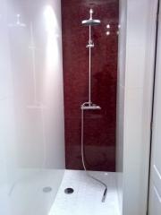 Cambio de plato de ducha despues de ser reformado.