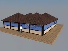 Proyecto de chiringuito en madera para playa en almeria