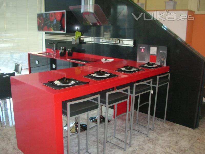 Foto barra de silestone - Barra cocina silestone ...