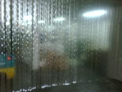 Cortina de pvc hecha con tiras de 70 mm muy finas y muy economicas y de facil instalaci�n para dific
